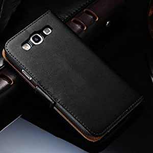 Genuine Leather Wallet Stand Case for Samsung Galaxy S3 i9300 Phone Bag with Card Holder, 2 styles Flip Cover, 10 pcs/lot --- Color:style 1 white