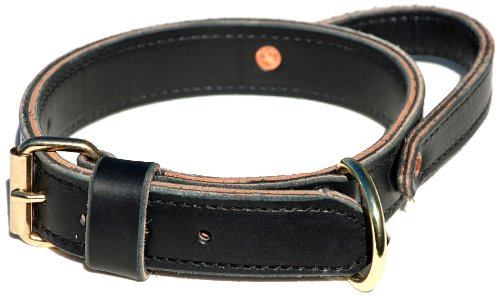 Signature K9 Mil Spec Agitation Collar with Handle, 1-1/4-Inch, Black