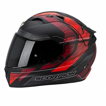 Scorpion EXO-1200 Air Hornet - Casco de moto, color negro/rojo,