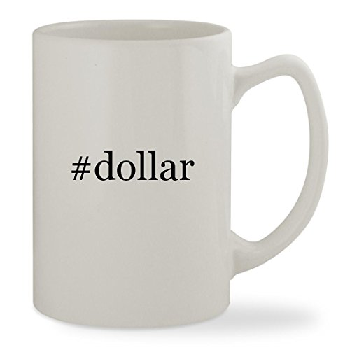 #dollar - 14oz Hashtag White Statesman Sturdy Ceramic Coffee Cup Mug
