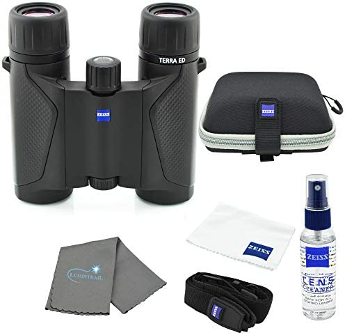 Zeiss 8x25 Terra ED Compact Pocket Binocular Black BundleZeiss Lens Care Kit and Lumtrail Cleaning Cloth / Zeiss 8x25 Terra ED Compact Pocket Binocular Black BundleZeiss Lens Care Kit and Lumtrail Cleaning Cloth
