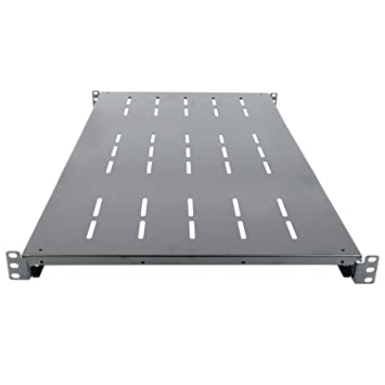 Cablematic - Bandeja fija ajustable 750mm 1U para rack 19""