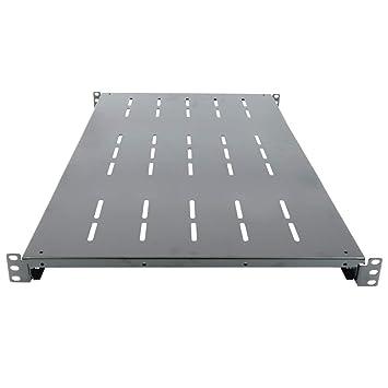 "Cablematic - Bandeja fija ajustable 750mm 1U para rack 19"""