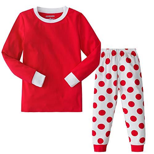 AMGLISE Christmas Pajamas Set Christmas Cotton Pajamas for Boys Girls Kids Pjs Toddler Sleepwear -