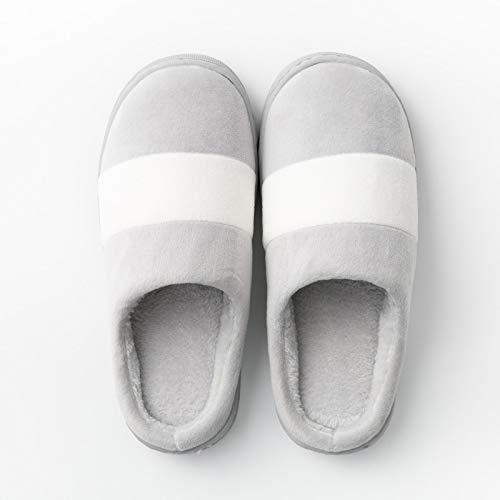 e coppia E YMFIE antiscivolo e uomini peluche autunno al cotone di donne caldo inverno pantofole Pantofole casa scarpe coperto 0wU70rqI
