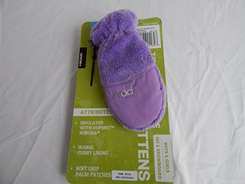 Head Thermal Fleece Kids Mittens Purple XXS (Ages 1-2)
