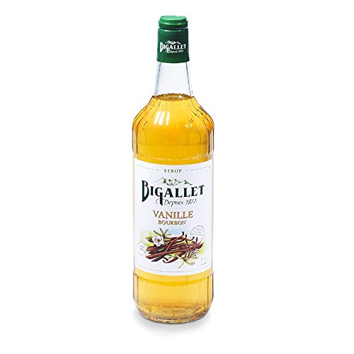 Organic French Vanilla Syrup - Bigallet Syrup - Vanilla - Produced at the foot of the French Alps - Naturally Organic, Non-GMO, Vegan Friendly, No Preservatives (Vanilla - Vanille) - 1 Liter Bottle
