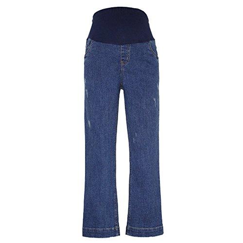 Maternità Premaman Abbigliamento Pull Ampia A Donna Pantaloni Con Estensore Pancia Vita Gamba Alta Decdeal Jeans On 5wa0ZnPWP