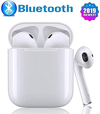 Bluetooth 5.0 Headset Wireless Earbuds Bluetooth Headphones 3D Stereo IPX5 Waterproof Pop-ups Auto Pairing Fast Charging for Samsung iPhone Apple of airpod and Airpods Sports Earphone