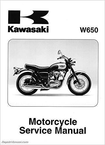 Book 99924-1245-08 EJ650 W650 1999-2006 Kawasaki Motorcycle Service Manual