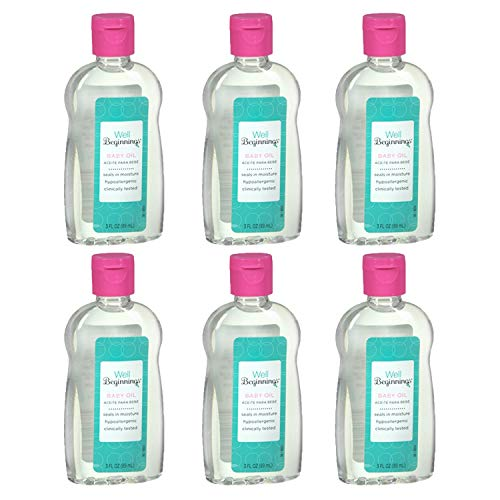 Hypoallergenic Baby Oil - Well Beginnings Baby Oil Hypoallergenic Moisturizing Travel Size 3oz (6 Pack)