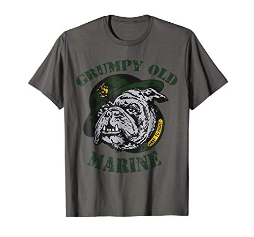 Grumpy Old Marine Shirt Funny Veteran Shirt (Marine Bulldog Shirt)