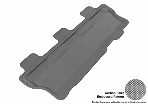(3D MAXpider L1TY14631501 Third Row Custom Fit All-Weather Floor Mat for Select Toyota Sequoia Models - Kagu Rubber (Gray))