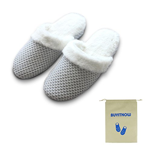 Non House Knit Slip Women's Slippers Shoes Closed Toe Scuff Indoor gnxZwp