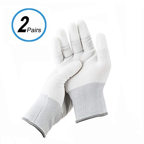 JJC Polyester Anti-Static Cleaning Gloves for Cleaning Camera Lens CCD CMOS Sensor or Other Precision Instruments with Free Size -2 Pair