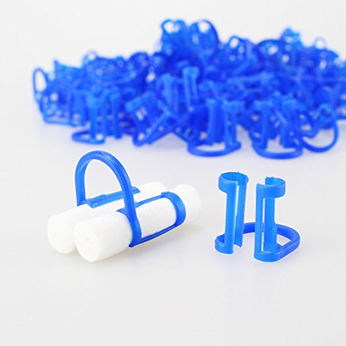 cotton-roll-holder-clip-disposable-dental-isolator-tool-clinic-100pcs
