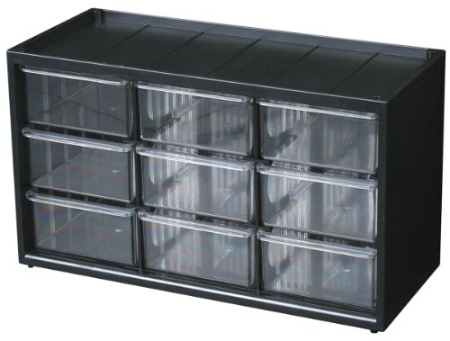 Flambeau 6576NB Parts Storage Drawer, Hardware and Craft Cabinet with 9 Drawers