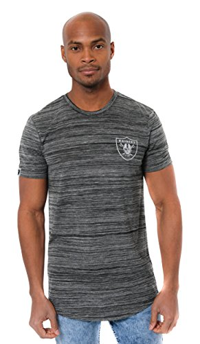 NFL Oakland Raiders Mens T-Shirt Active Basic Space Dye Tee Shirt, Large, Black