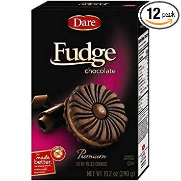 (Dare Foods Chocolate Fudge Creme Filled Cookie, 10.2 Ounce - 12 per case.)