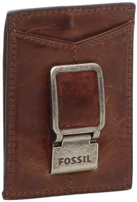 Fossil-Carson Multicard, Cartera de hombre, color marrón, cuero, Marrón (marrón), talla única