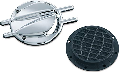 (Kuryakyn 8498 Motorcycle Air Cleaner/Filter Component: Stinger Vented Trap Door for Standard Hypercharger Air Cleaners, Chrome )