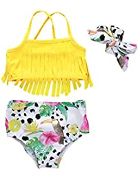 9e89c40820af7 Baby Girl Babies Swimwear Tassels Floral Pinapple Bowknot Swimsuit Bathing  Suit Bikini Set Outfits Summer