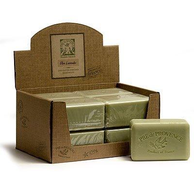 Olive Lavender Oil - Pre De Provence 350 Gram 12 Ounce Olive Oil Lavender Shea Butter Enriched Triple Milled Soap Case of 8