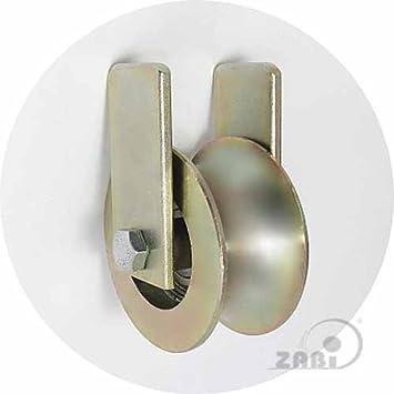 ZAB de S metal ruedas con rodamientos para puertas en tubo con fijación Ø 30 - Ø 89: Amazon.es: Bricolaje y herramientas