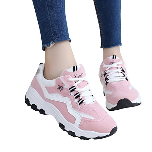 CN36 Sports Breathable Shoes Size Version Flat shoes Shoes Black Running LVZAIXI Color EU36 Pink Student Korean UK4 Leisure cozy Shoes AEqxURWtw5