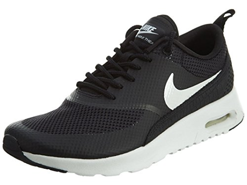Nike Womens Air Max Thea Low Top Lace Up Running, Black/Summit White, Size 9.5 (Nike Air Max Thea Black And Red)