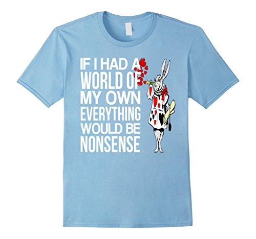 White Rabbit Alice In Wonderland Infant Costume (Mens Alice in Wonderland White Rabbit-Men Women Kids T Shirt XL Baby Blue)