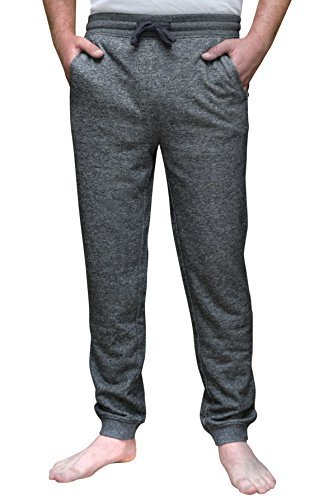 Express Mens French Terry Marled Jogger Pant  Large  Charcoal  Marled