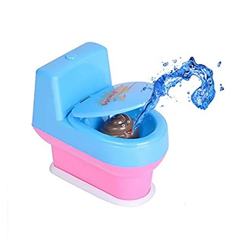 Funny Mini Squirting Toilet Prank Desk Toy Supernatural Water Gun for Xmas Gift (Cars Plastic Bowl)