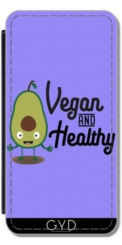Leder Flip Case Tasche Hülle für Apple Iphone 7 Plus / 8 Plus - Vegan Gesund Avocado by ilovecotton