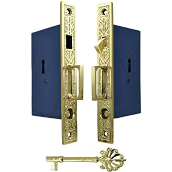 Recreated Double Pocket Door Lock Set Zlw 51fd Pocket