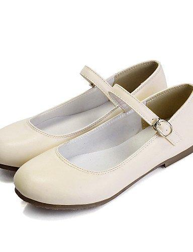 5 zapatos mujer plano Flats us5 talón Casual 5 de eu36 uk3 de blanco piel punta pink PDX negro Beige redonda amarillo azul cn35 sintética q5AB0c