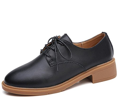 Casual Shoes Shoes Fashion Autumn Loafers Black Women's Oxford FIgwqgp