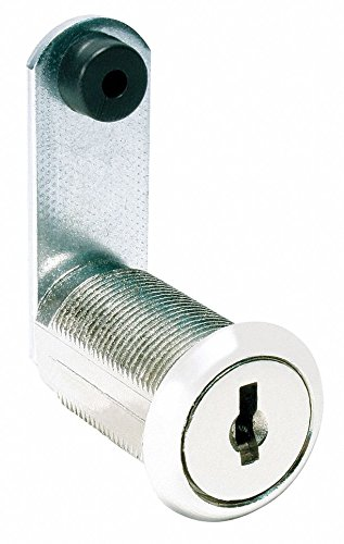 Alike-Keyed Standard Keyed Cam Lock Key # C413A, For Door Thickness (In.): 15/64, Bright Nickel by COMPX NATIONAL