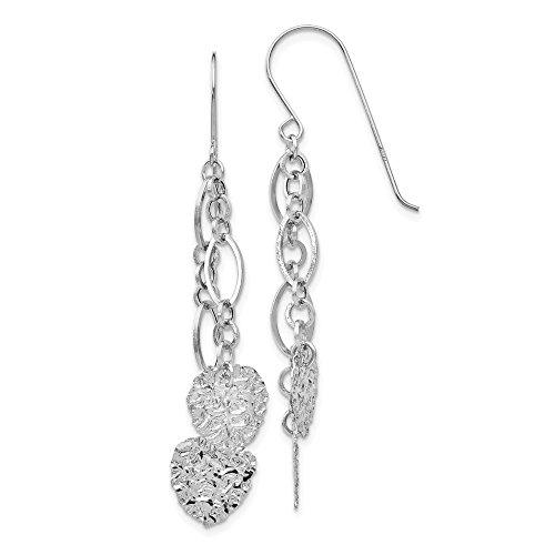 Mia Diamonds 14K WG Dangle Heart (14k Wg Diamond Dangle)
