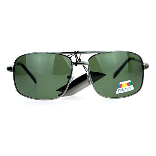 SA106 Anti Glare Polarized Lens Narrow Rectangular Navigator Sport Sunglasses - Sunglasses Aviator Narrow