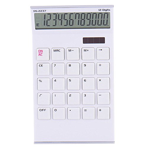 S&M TREADE-12 Digit Desk Calculator Jumbo Large Buttons Solar Desktop Battery Home Office