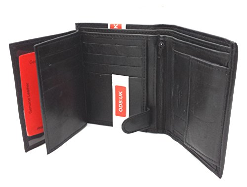 ODS:UK High Luxury Soft Leather Tri Fold Design Wallet Credit Card Slots, Id Window And Coin Pocket Medium - The Credit Closing Limited Card
