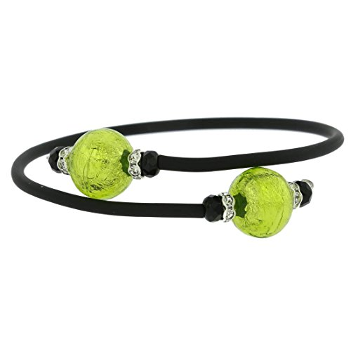 (GlassOfVenice Murano Glass Venetian Glamour Bracelet - Lime Green)