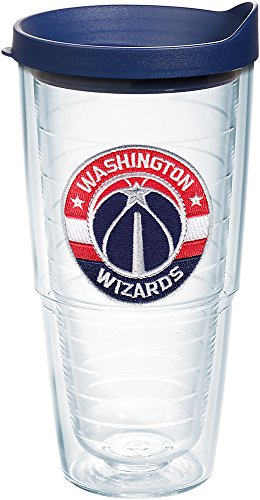 Tervis 1199202 NBA Washington Wizards Primary Logo Tumbler with Emblem and Navy Lid 24oz, Clear