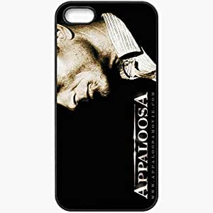 Personalized iPhone 5 5S Cell phone Case/Cover Skin Appaloosa Ed Harris Virgil Cole face hat Movies Black