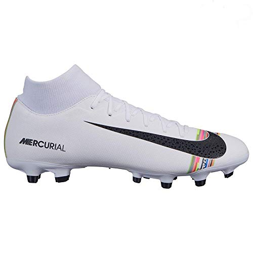 8c2c5126457 Nike Men s Mercurial Superfly 6 CR7 Soccer Cleat White Black Pure Platinum  Size 6.5 M US