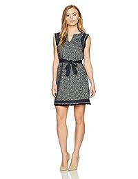Ellen Tracy womens petite Petite Size Split Neck Shift Dress