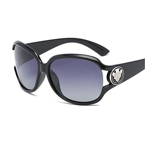 Miopía UV Moda Protección De Negro QZ Luz De Caja HOME Marrón Espejo Color Grande De Sol Conducción Gafas Polarizada 70x10qRP
