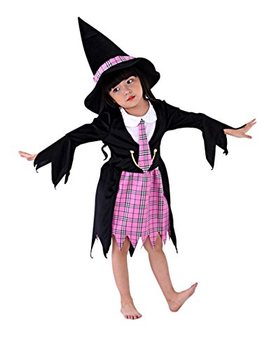 So Sydney Girls Toddler Deluxe Wizard Magic School Girl Halloween Costume Accessories (S (3T/4T), Wizard School (Wiz Live Costumes)