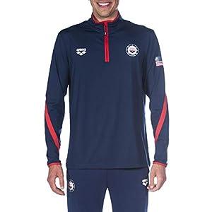 Best Epic Trends 413068DAhPL._SS300_ Arena Official USA Swimming National Team Men's Tech 1/2 Zip Long Sleeve Warm-up Shirt